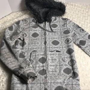 VOLCOM carnival 🎡 grey full zip hoodie XS